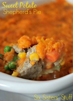 Sweet Potato Shepherd's Pie from Sixsistersstuff.com (The perfect healthy meal!)