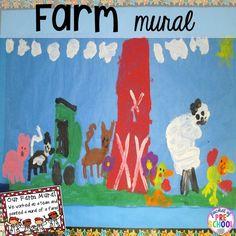 Farm kid mural plus tons of farm themed art, sensory, and fine motor activities for preschool Farm Activities, Social Activities, School Art Projects, Science Projects, Craft Projects, Farm Unit, Preschool Art, Preschool Curriculum, Kindergarten
