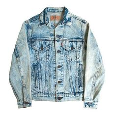 levi's acid wash jean jacket men's vintage stone washed bleached denim ❤ liked on Polyvore featuring mens and men's clothing