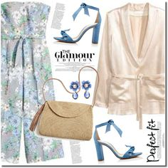 HM floral jumpsuit by anne-irene on Polyvore featuring polyvore, fashion, style, Alexandre Birman, Mar y Sol, Dolce&Gabbana and clothing
