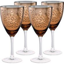 Artland Inc. Leopard Gold Wine Glasses - Set of 4 - Add some playful style to your barware collection with the Artland Inc. Leopard Gold Wine Glasses - Set of This light-hearted glassware features a . Gold Wine Glasses, Decorated Wine Glasses, Shot Glasses, Motif Leopard, Cheetah Print, Leopard Prints, Leopard Decor, Leopard Chair, Leopard Spots