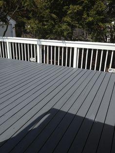 38 best grey deck images backyard patio exterior design - Benjamin moore swimming pool paint 042 ...