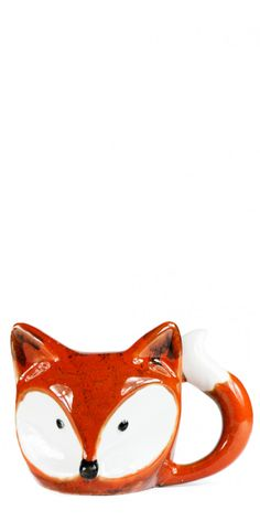 We can't get enough of the clever design of the Foxy Mug. Made out of ceramic in the shape of a fox face, including 3D ears, and a bushy-tail handle!