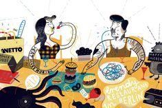 Illustration for monthly magazine Exberliner by Agata Dudek: www.agatadudek.pl