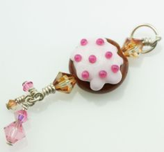 Girly goodness at a steal! Handmade Art Charm by Holly Dare #10 - 100% proceeds donated to Beads of Courage