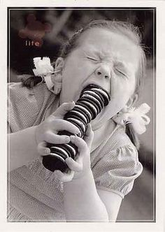 I recently read Oreos are as addictive as cocaine...I didn't quite believe it...until I saw this photo.
