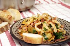 Calamari with Chorizo, Artichoke, and Fava Beans