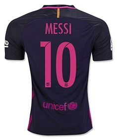 2016/17 Barcelona FC Away Messi Jersey Adult Size S