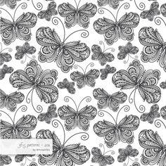 zentangle butterflies №3  #pattern #surfacedesign #365 #365patterns #art #mzwonko