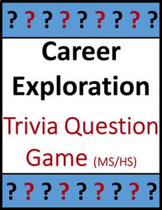 Students learn and apply fun facts with this group career exploration trivia game. Multiple choice questions cover career types, roles, salaries, outlooks, educational requirements, and famous role models. The questions can also be used as research topics or as daily warm-ups or brain-ticklers.