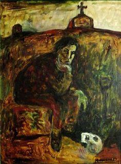 Victor Humareda- Hamlet - óleo sobre lienzo - 80 x 60 cm - 1985 - Víctor Humareda - Wikipedia, la enciclopedia libre