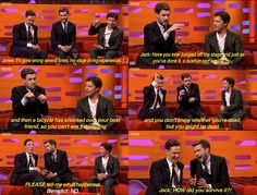 Jack Whitehall asks Benedict Cumberbatch the burning question that's been driving us all insane. Graham Norton Show, October 11, 2013