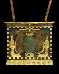 Pectoral belonging to Sheshonq II-gold semi preciosus stones and glass paste-Tanis-tomb of Psusennes I-20th second dynasty-reign of Sheshonq II cairo egyptian museum-pectoral of Sheshonq II-JE72170