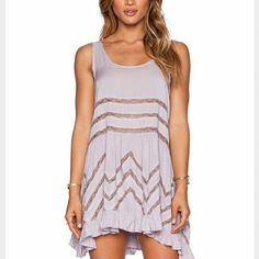 Free people voile lace slip Lavender color. Size L. Make me an offer :) Free People Dresses Midi
