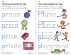 "Produce Consonant Blends ""Pl"" and ""Pr"": Lesson 1, Book 2 (Newitt Grade 1 Prereading Series)"