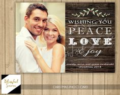 Custom Photo Christmas Card / Rustic Christmas / by BlissfulSoiree
