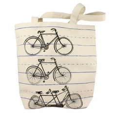 Canvas Tote: Bicycles