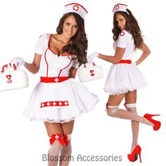 Ladies Nurse Uniform Doctor Medical Fancy Dress Up Hens Party Costume Outfit Cute Group Halloween Costumes, Cute Costumes, Halloween Outfits, Fancy Dress Up, Doctor Party Costume, Hen Party Dress, Sexy Nurse Costume, Uniform Dress, Costumes
