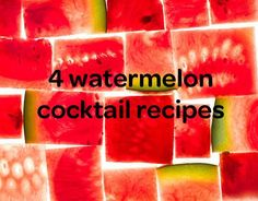 This summer, sip on one of our juicy watermelon cocktails.
