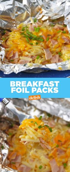 Even if you have it rough . you still need brunch. Get the recipe from Deli . - Brunch and Breakfast Recipes - Camping Nature Hobo Dinners, Foil Pack Dinners, Tin Foil Dinners, Campfire Food, Ovens, Barbecue, The Best, Camping Hacks, Tent Camping