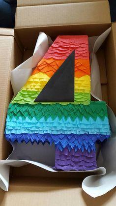 Número del arco iris Pinata