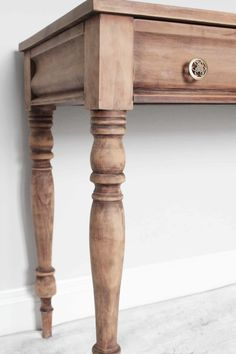 The Easy Way to Strip furniture of Polyurethane, Paint, and Stain with Minimal Sanding by coating your furniture piece with saran wrap.