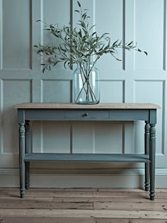 Toulon Console Table - Dark Grey - Console Tables - Dining, Coffee & Side Tables - Luxury Home Furniture Plywood Furniture, Hallway Furniture, Living Furniture, Table Furniture, Furniture Storage, Furniture Makeover, Antique Furniture, Gray Console Table, Hallway Console