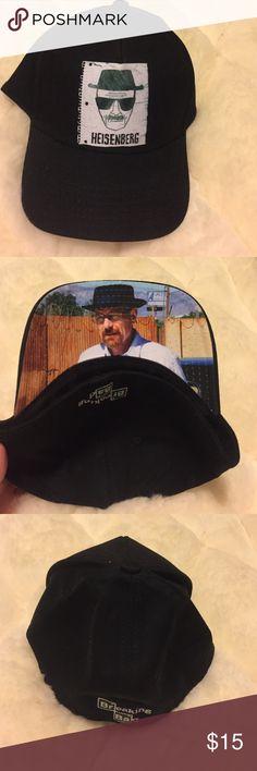 Breaking bad Heisenberg baseball hat New Breaking bad Heisenberg  baseball hat. Has breaking bad printed on back. Amazing design with Heisenberg on bill. Hot Topic Accessories Hats