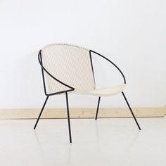 Welded Steel Frame Woven Hoop Circle Chair