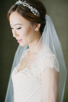 Bridal portrait: http://www.stylemepretty.com/california-weddings/los-angeles/2015/03/28/white-on-white-luxe-sunset-boulevard-hotel-wedding/ | Photography: This Modern Romance - http://thismodernromance.com/