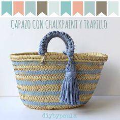Diy by Paula: Reto pinterest: Mayo - Capazos para la playa