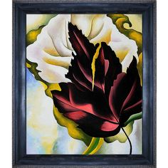 La Pastiche Georgia O'Keeffe 'Pattern of Leaves 1924' Hand Painted Framed Art