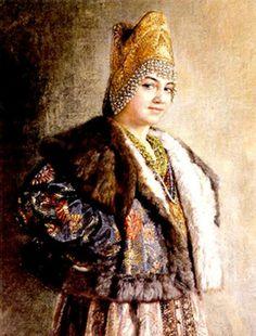 Константин Маковский. Портрет боярышни.