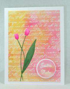 Tulips on Twinkling Script by cjzim - Cards and Paper Crafts at Splitcoaststampers