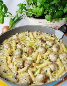 Ala piecze i gotuje Pasta Recipes, Dinner Recipes, Cooking Recipes, Dinner Dishes, Pasta Dishes, Healthy Cooking, Healthy Recipes, Good Food, Yummy Food