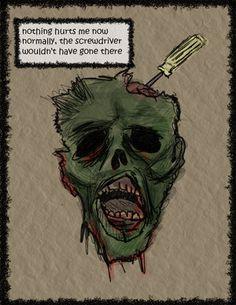 Pop Art Gore Horror NEW Brains Keyring and Magnet Set Zombie