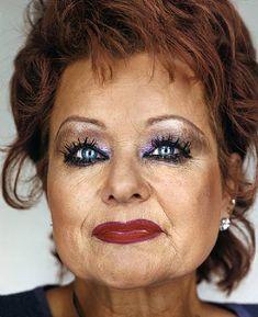 Christian singer & televangelist Tammy Faye Bakker, known partly for her excessive makeup!