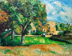 Paul Cézanne - Chestnut Trees and Farm in Jas de Bouffan