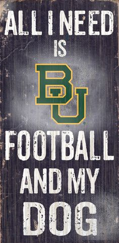 Do you love Baylor Bears Football and your Dog? Then you need this sign. This Baylor Bears sign is perfect for displaying around the house or office. It includes a piece of rope attached to the back f