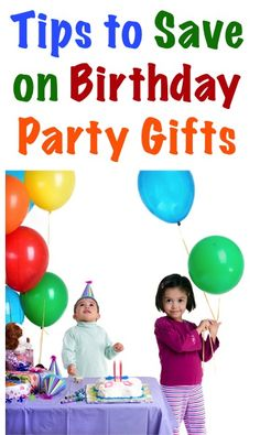 Tips to Save on BIG on Birthday Party Gifts for Kids!! at TheFrugalGirls.com #birthdays
