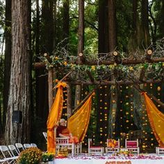 Rustic alternative mandap