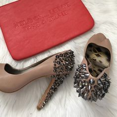 Sam Edelman Studded Pump Gorgeous pumps that can both be romantic and sexy! Studs all there and an extra baggy of studs in case you loose one. True to size. Offers welcome through offer tab. No trades. New in box. 32316401 Sam Edelman Shoes