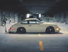 Hang Lo' 🍩  #porsche #classic #lowrider #weekenddriver #carporn by #911outlaw  credit: @airrexsuspension