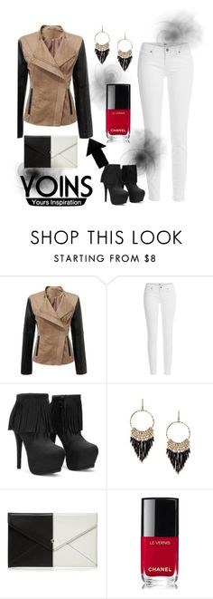 """""""Yoins"""" by hasiba678 ❤ liked on Polyvore featuring Paige Denim, Red Herring, Chanel and yoins"""
