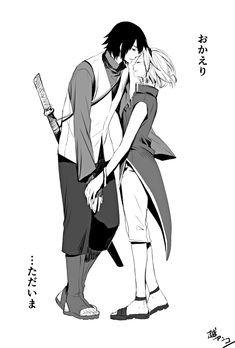 Pixiv Id 903594, NARUTO, Uchiha Sasuke, Haruno Sakura, Husband And Wife