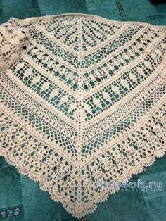 Вязаная шаль Эдлотия. Работа Людмилы вязание и схемы вязания