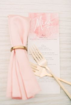 Pink and Gold Fall Wedding - Pink Bridesmaid Dresses, Pink and Gold Table Decorations - ColorsBridesmaid Wedding Menu, Wedding Stationary, Wedding Planner, Our Wedding, Wedding Invitations, Dream Wedding, Wedding Foods, Wedding Vintage, Wedding Catering