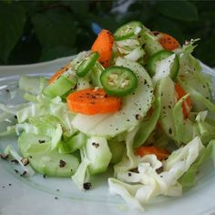 "Spicy Bok Choy Slaw I ""This is a fantastic tasting, zingy salad!"""