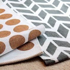 For $9 make your own DIY Lulu & Georgia inspired rugs! (via homemadebycarmona)