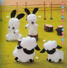 coelho ovelha feltro